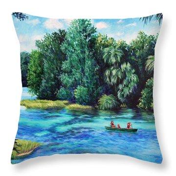 Rainbow River At Rainbow Springs Florida Throw Pillow