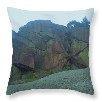 Throw Pillow featuring the photograph Rainbow Rock by John Williams