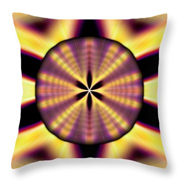 Throw Pillow featuring the drawing Rainbow Seed Of Life by Derek Gedney
