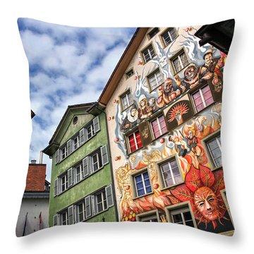 Rainbow Corner  Lucerne Throw Pillow