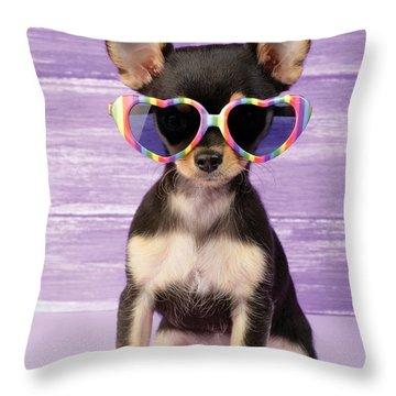 Rainbow Sunglasses Throw Pillow by Greg Cuddiford