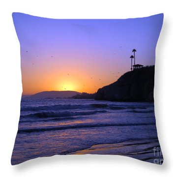 Rainbow Sunset Throw Pillow