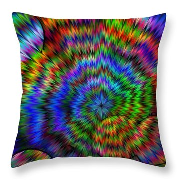 Rainbow Super Nova Throw Pillow
