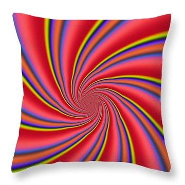 Rainbow Swirls Throw Pillow by Paul Sale Vern Hoffman