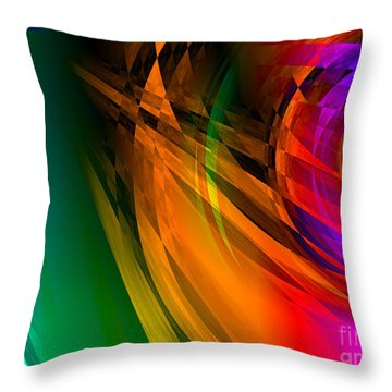 Rainbow Thoughts Throw Pillow
