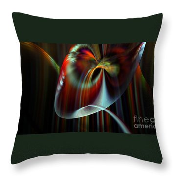 Rainbow Waterfall Throw Pillow by Peter R Nicholls