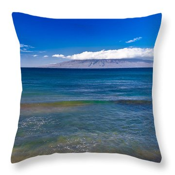 Rainbow Wave   Throw Pillow