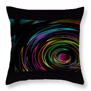Rainbow Whirlpool Throw Pillow