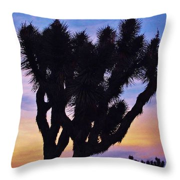 Throw Pillow featuring the photograph Rainbow Yucca by Angela J Wright