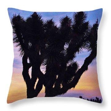 Rainbow Yucca Throw Pillow by Angela J Wright