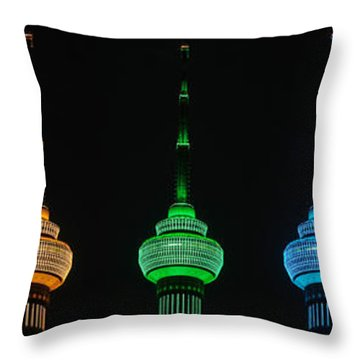 Rainbow Throw Pillow by Yue Wang