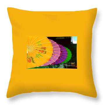 Throw Pillow featuring the photograph New Orleans Rainbowellas by Michael Hoard