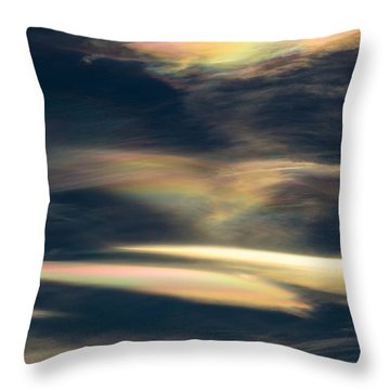 Rainbow Hearts Throw Pillow