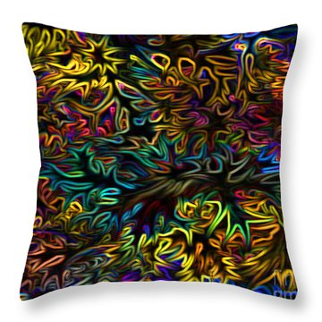 Rainbows In The Forest Throw Pillow