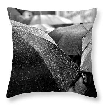 Rainbrella's Throw Pillow by Christopher McKenzie