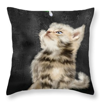 Raindrops Keep Fallin' On My Nose Throw Pillow