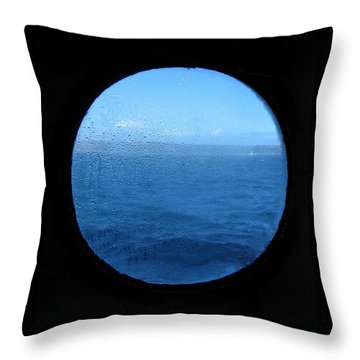 Raindrops On Planet Earth Throw Pillow