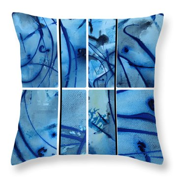 Throw Pillow featuring the photograph Raindrops Part Four by Sir Josef - Social Critic - ART
