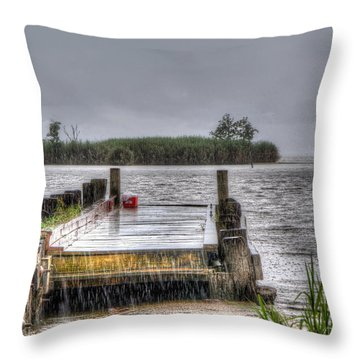 Throw Pillow featuring the photograph Rained Out by Charlotte Schafer