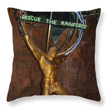 Throw Pillow featuring the photograph Rainforest Appeal by David Nicholls