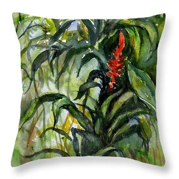 Rainforest Bromeliad  Throw Pillow