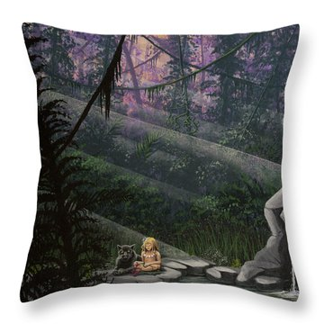 Rainforest Mysteries Throw Pillow