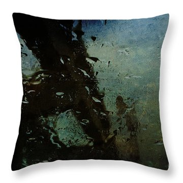 Rainful Abstract Throw Pillow