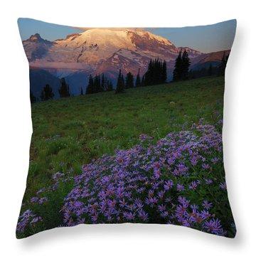 Rainier Morning Cap Throw Pillow