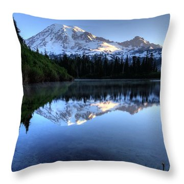 Rainier Redefined Throw Pillow