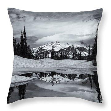 Rainier Reflections Throw Pillow