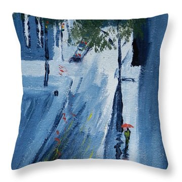 Raining Again Throw Pillow