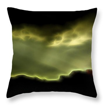 Throw Pillow featuring the digital art Rainlight 1 by William Horden