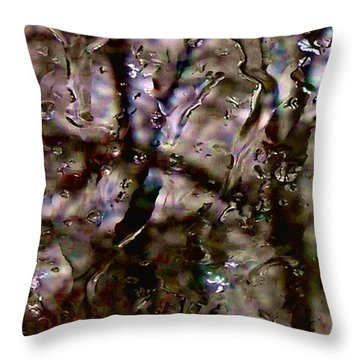 Throw Pillow featuring the photograph Rainscape - Rain On The Window Series 3 Abstract Photo by Marianne Dow