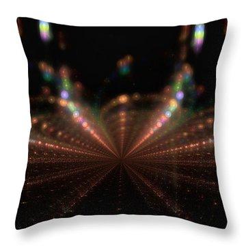 Rainy City Night Throw Pillow by GJ Blackman