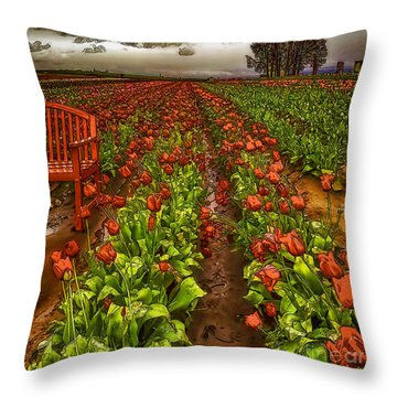 Rainy Day-2 Throw Pillow