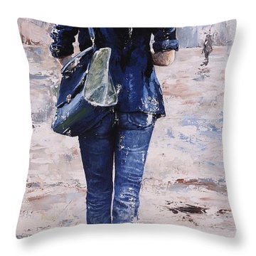Rainy Day #22 Throw Pillow by Emerico Imre Toth
