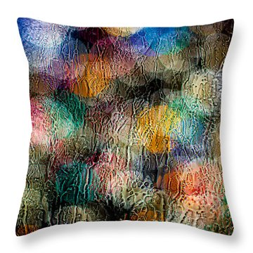 Throw Pillow featuring the photograph Rainy Day Christmas by Aaron Aldrich
