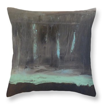 Rainy Day Throw Pillow by Claudia Goodell