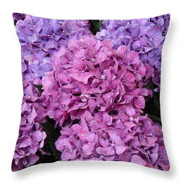 Throw Pillow featuring the photograph Rainy Day Flowers by Ira Shander