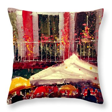 Rainy Day In Fivizzano Throw Pillow
