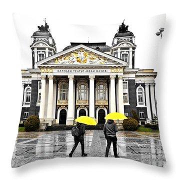 Rainy Day In Sofia Throw Pillow