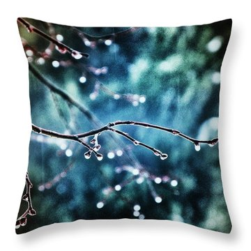 Rainy Day Throw Pillow by Marianna Mills