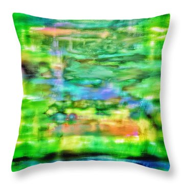 Rainy Day Reflection Throw Pillow by Steven Llorca