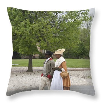 Rainy Day Walk Throw Pillow by Teresa Mucha