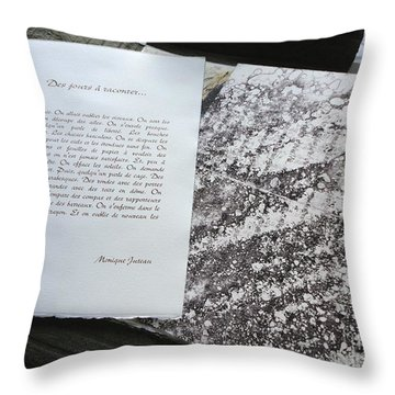 Days To Relate Poem Throw Pillow