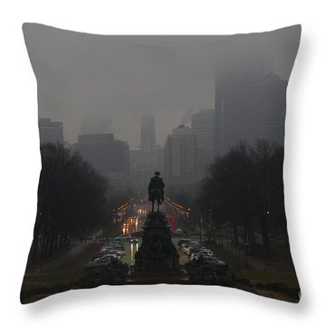 Rainy In Philadelphia Throw Pillow