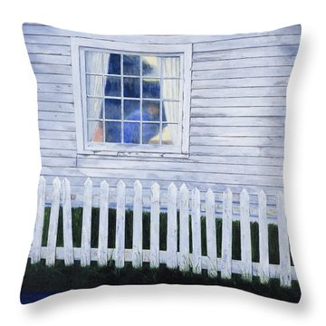 Rainy Morning Blues Throw Pillow by Garry McMichael