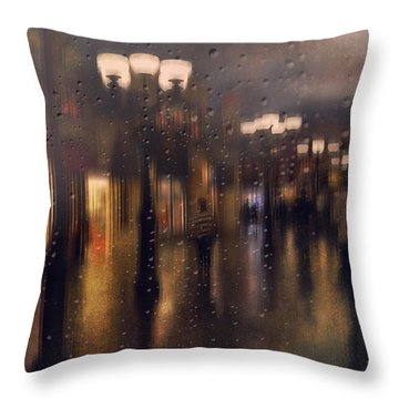 Rainy Night Throw Pillow