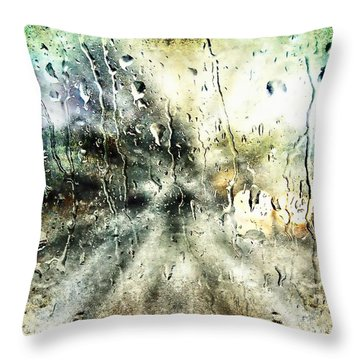 Rainy Night Throw Pillow