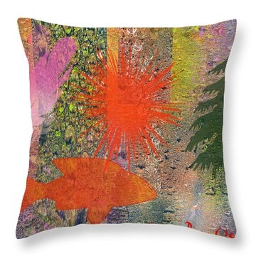Rainy Palette Throw Pillow